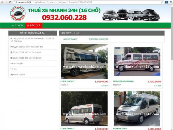 Ford Transit 2018 bán hoặc cho thuê
