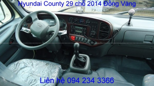 Hyundai County Đồng Vàng 29 chỗ 2014, giá ưu đãi