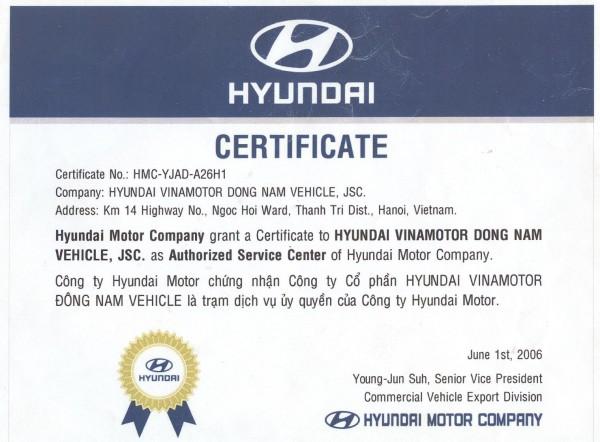Hyundai H-D gắn cẩu HD85, nâng 3 tấn,